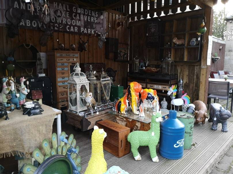 Garden items for sale at Stables restuarant