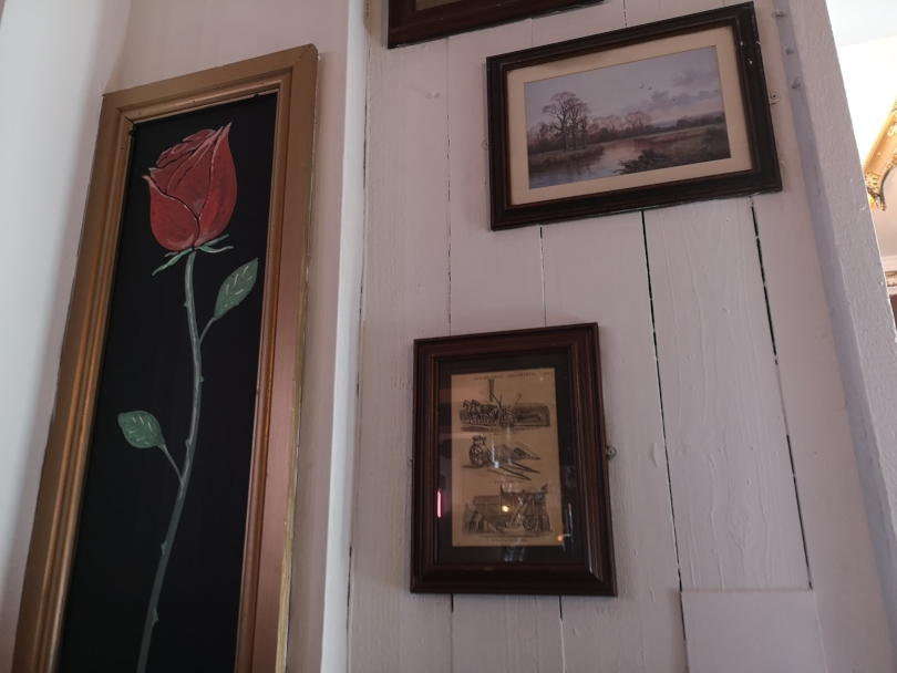 Pictures on the wall of the Rose Inn