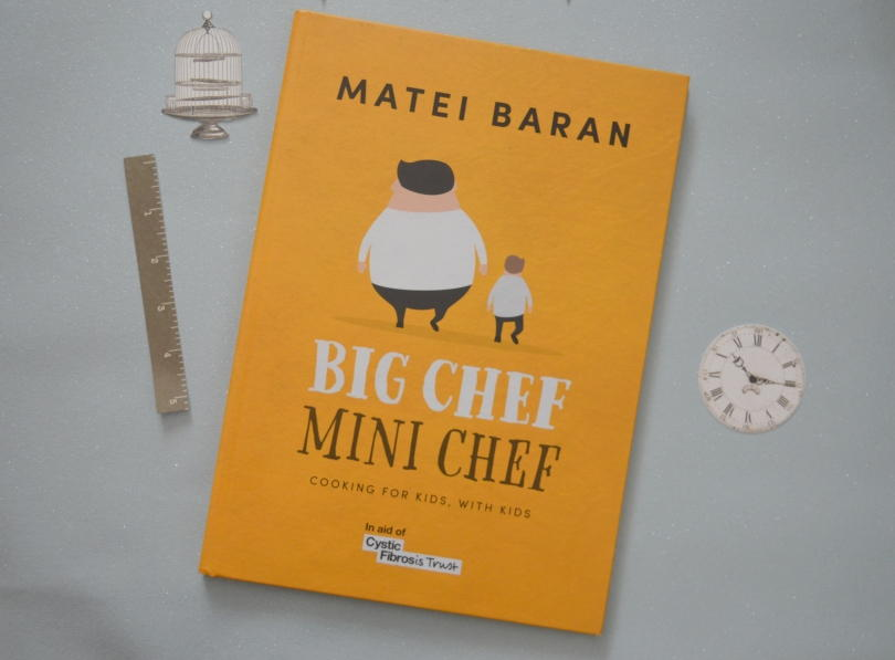 Big chef mini chef cookbook on a table