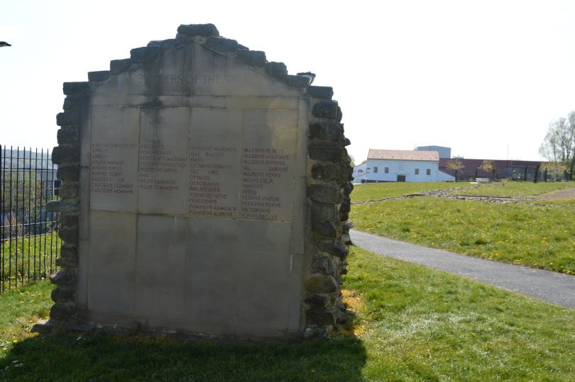 Marker for Hadrians Wall at Segedunum