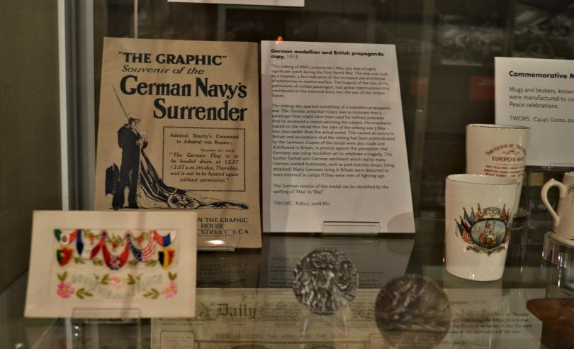 world war one papers on display in a glass case