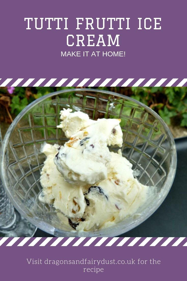 Tutti Frutti ice cream in a bowl. Get the recipe to make it at home