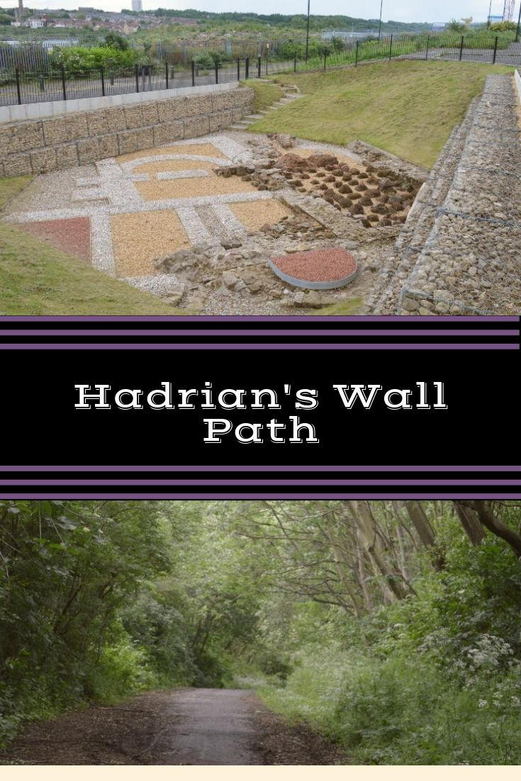 The walk along Hadrian's wall path from its end at Wallsend to St Peter's Basin in Newcastle.