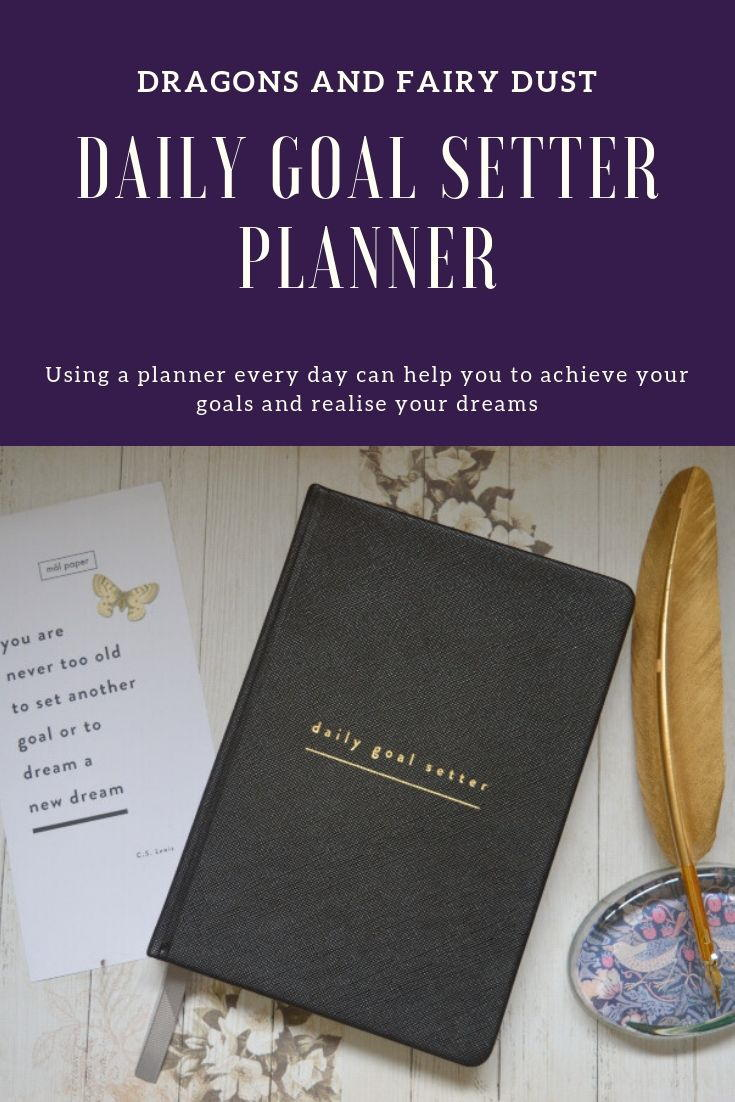 Daily Goal Setter Planner from Mal Paper. This will help you to get organised and meet your goals