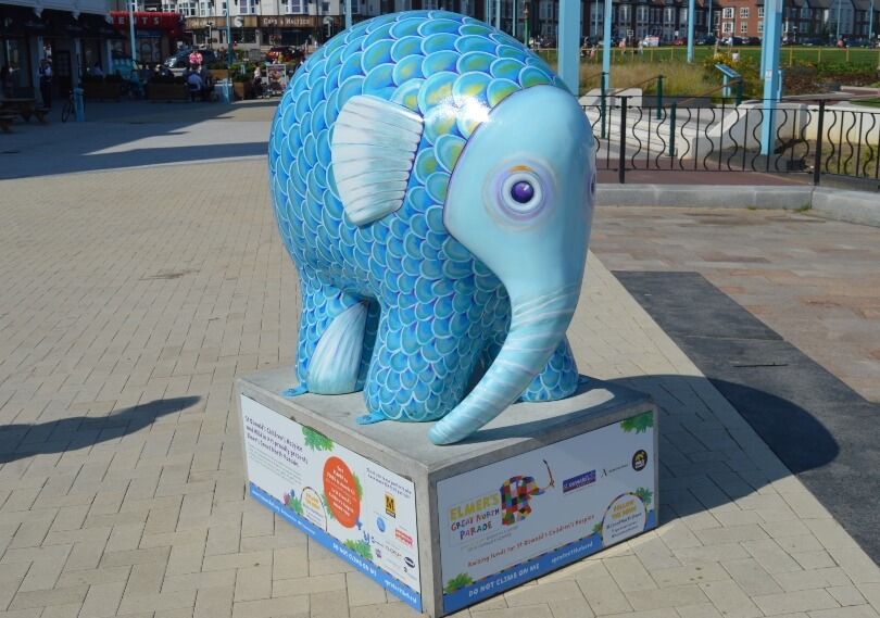 Elphish elephant that looks like a fish at Spanish City