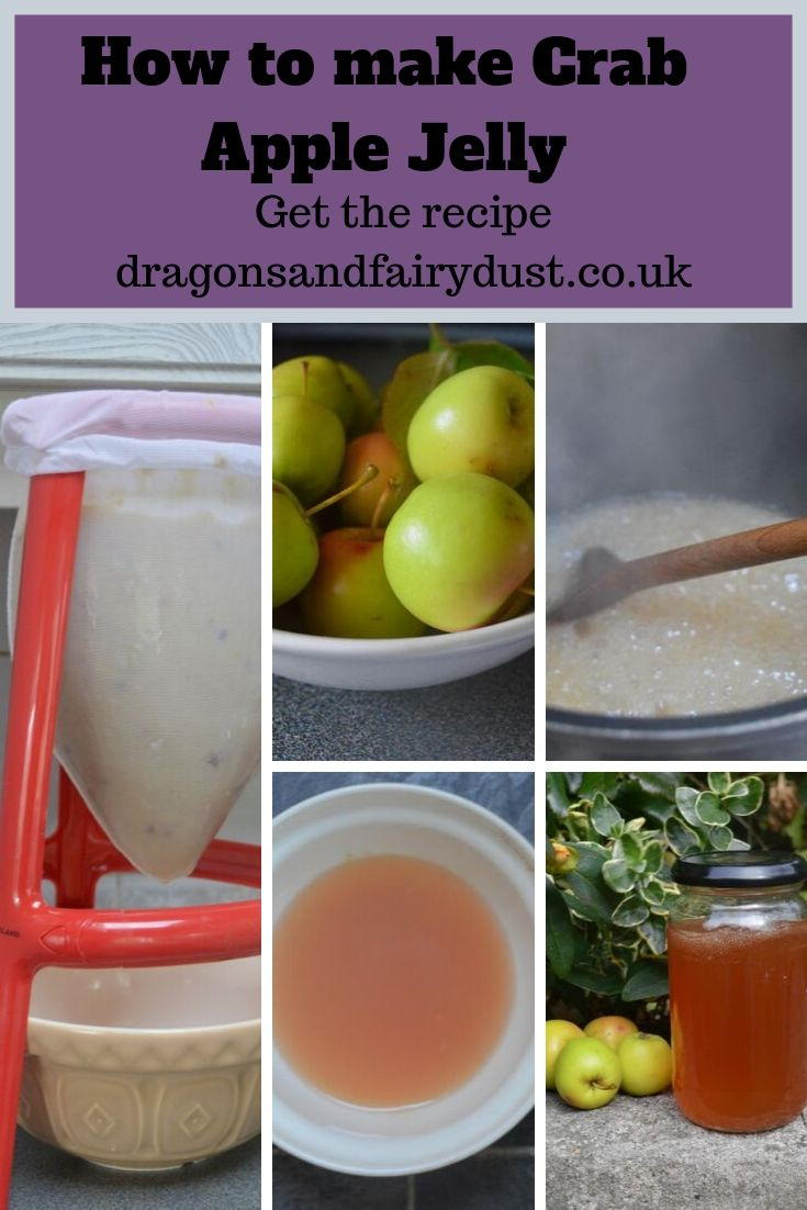 How to make crab apple jelly - pictures showing the steps