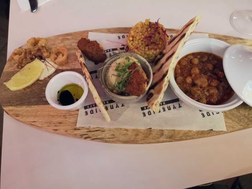 Moroccan sharing board as the Tyneside bar cafe