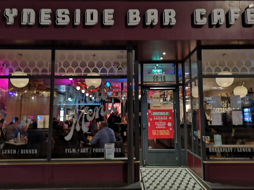 The outside of the Tyneside bar cafe