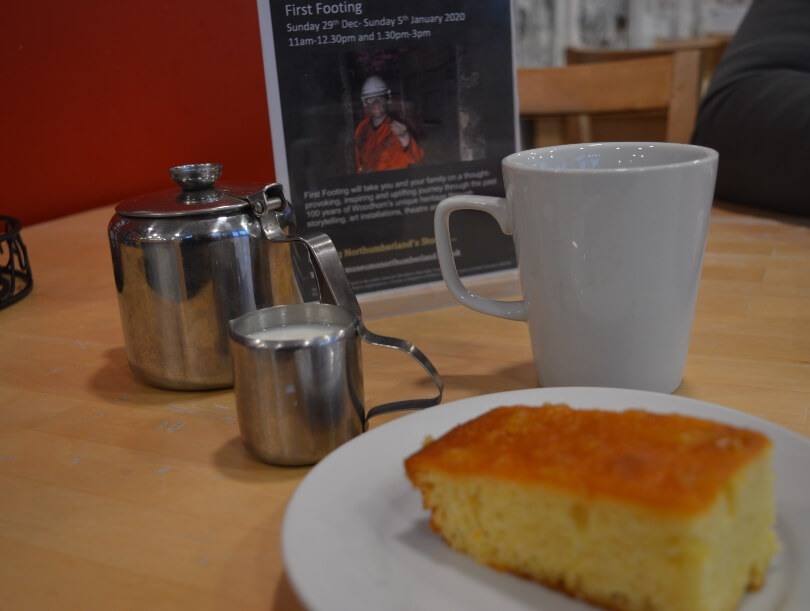 cake and tea at woodhorn